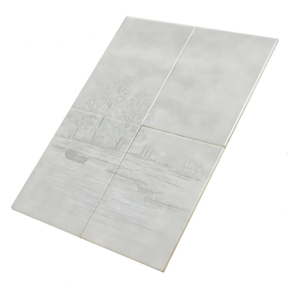Wandfliese Sphinx E3126 5718 Fume 4er Set grau 15x20 cm