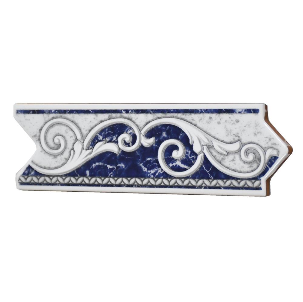 Bordüre Nr 670 azul blau Floral Antik 6x20 cm